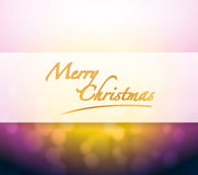 Merry Christmas bokeh light sign Stock Image