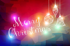 Merry Christmas bokeh lights background Royalty Free Stock Images