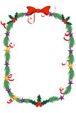 Merry Christmas border and decoration frame Royalty Free Stock Images