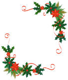 Merry Christmas border and decoration frame Royalty Free Stock Photos