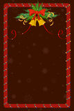 Merry Christmas border and decoration frame Stock Image