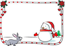 Merry Christmas border frame. Vector drawing Merry Christmas border frame royalty free illustration