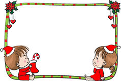 Merry Christmas border frame. Vector drawing Merry Christmas border frame stock illustration