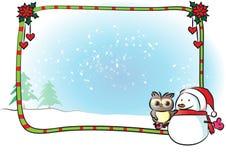 Merry Christmas border frame. Vector drawing Merry Christmas border frame vector illustration