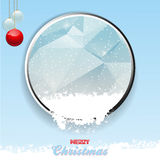 Merry Christmas border with ice and snow Royalty Free Stock Images