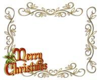 Merry Christmas Border Illustration 3D Royalty Free Stock Photography