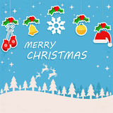 Merry christmas border set 5 background. Vector background of merry christmas Stock Images