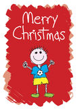 Merry Christmas - Boy. Merry Christmas - From a boy Stock Photography