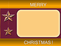 Merry christmas brown blank Stock Photography
