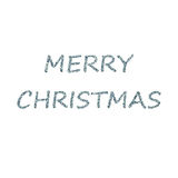 Merry Christmas bubbles blue Stock Images