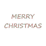 Merry Christmas bubbles red green Royalty Free Stock Photography