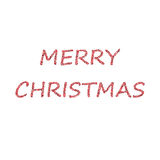 Merry Christmas bubbles red Royalty Free Stock Photography