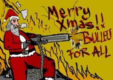 Merry Christmas!Bullets for all Stock Image