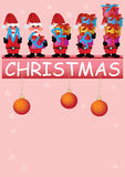 Santa Claus Busy with Gifts_eps Stock Photography