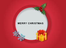 Merry Christmas button Royalty Free Stock Photo