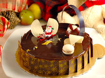 Merry Christmas  cake. The merry Christmas  chocolate cake Royalty Free Stock Photography