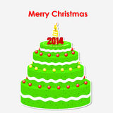 Merry Christmas cake Stock Photo