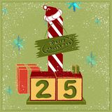 Merry Christmas Calendar with presents royalty free illustration