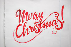 Merry Christmas calligraphic background. For your design royalty free stock image