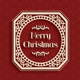 Merry Christmas calligraphic greeting card Royalty Free Stock Photography