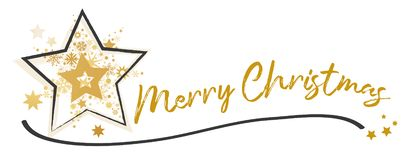 Merry Christmas Calligraphic Lettering design card template stock photo