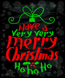 Merry Christmas calligraphic lettering. New Year background Royalty Free Stock Photos