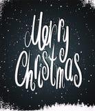 Merry Christmas. Calligraphic retro Christmas card design. Vector illustration. royalty free illustration