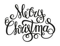 Merry Christmas calligraphic text Stock Photo