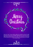 Merry christmas. Calligraphy clip-art, vector illustration. Stock Image