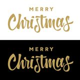 Merry Christmas 006. Christmas calligraphy. Christmas creative typography. Holiday greeting card. Vector illustration Royalty Free Stock Photo