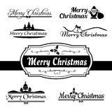 Merry christmas calligraphy text,  on white background 0 Royalty Free Stock Images