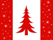 Merry Christmas Canada Flag Stock Images