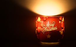 Merry christmas candle Royalty Free Stock Photos