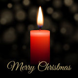 Merry Christmas candle Stock Photo