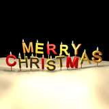 Merry Christmas candles Royalty Free Stock Images