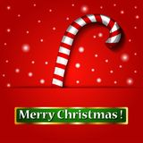 Merry Christmas candy on a background. Stock Images