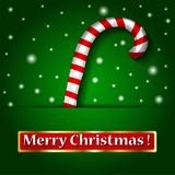 Merry Christmas candy on a background. Stock Photos