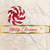 Merry Christmas candy on a background. Royalty Free Stock Photography