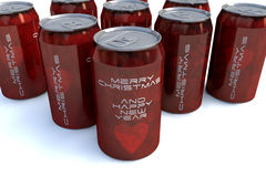 Merry christmas cans Royalty Free Stock Photos