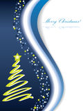 Merry Christmas card. With blue background Royalty Free Stock Photo