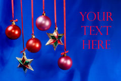 Merry Christmas card. Merry Christmas dark blue card Royalty Free Stock Photo