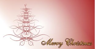 Merry Christmas Card. Merry Christmas invitation on red background Royalty Free Stock Photos