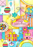 Merry Christmas Card stock illustration