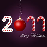 Merry christmas card, 2011. Happy new year Royalty Free Stock Photography