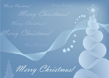 Merry Christmas card. Greeting card by  format Royalty Free Stock Photography