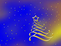 Merry Christmas card. Merry Christmas and Happy New Year 2012 glitter and stars stock illustration