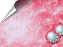 Merry Christmas card. Merry Christmas and Happy New Year 2012 glitter and stars Royalty Free Stock Photos