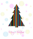 Merry Christmas card. With Christmas tree Stock Images
