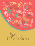 Merry Christmas card. With elements Stock Images
