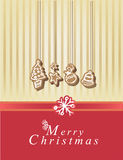 Merry Christmas card. With elements Royalty Free Stock Image